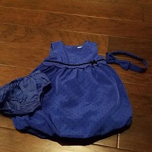 gymboree outfit with diaper cover and headband.